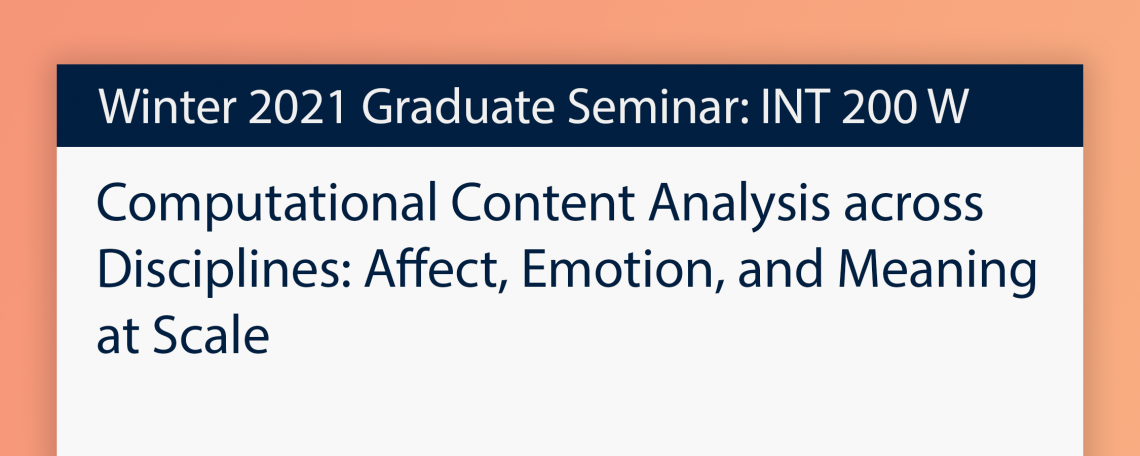 Computational Content Analysis across Disciplines: Affect, Emotion, and Meaning at Scale